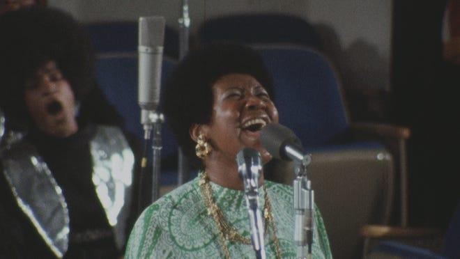 "Aretha Franklin in ""Amazing Grace."""