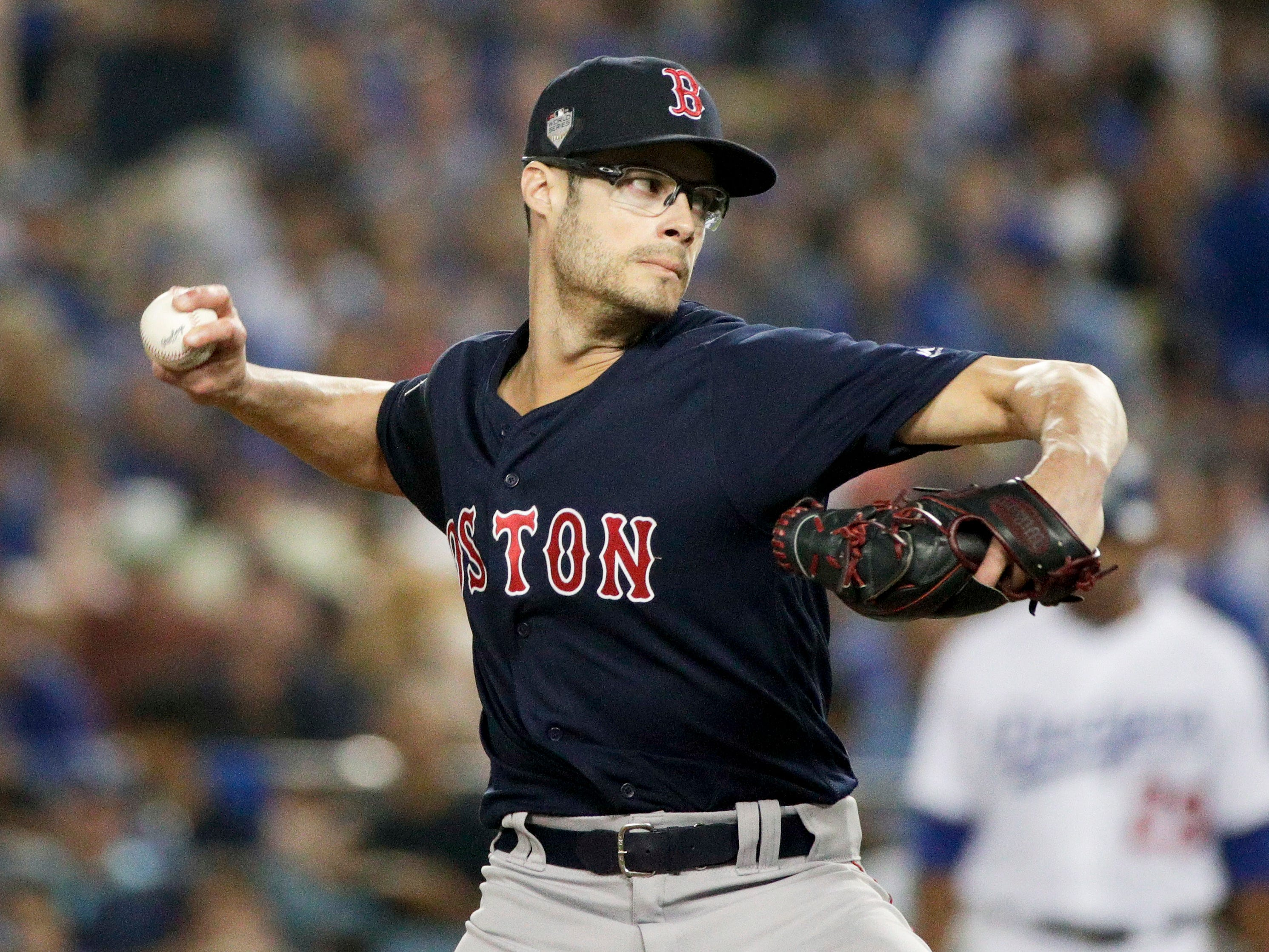 35. Joe Kelly, RP, 31: Like Nathan Eovaldi, another Red Sox right-hander whose excellent postseason performance will earn him some additional phone calls from GMs around the league. Prediction: Red Sox, three years, $18 million