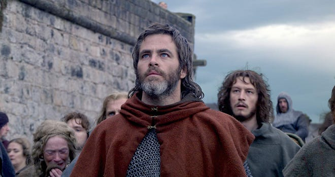 """Chris Pine and Lorne MacFadyen in """"Outlaw King."""""""