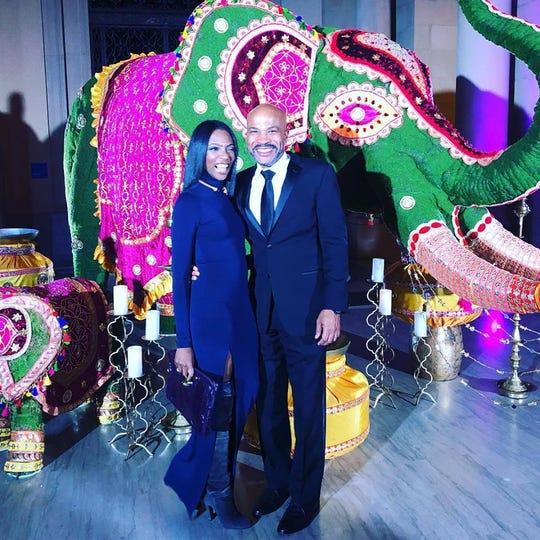 Wendy Batiste-Johnson and her husband, Rodney Johnson enjoy the gala.
