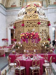 4.	The Great Hall at DIA elaborately decorated for 4-course dining at the DIA Gala.