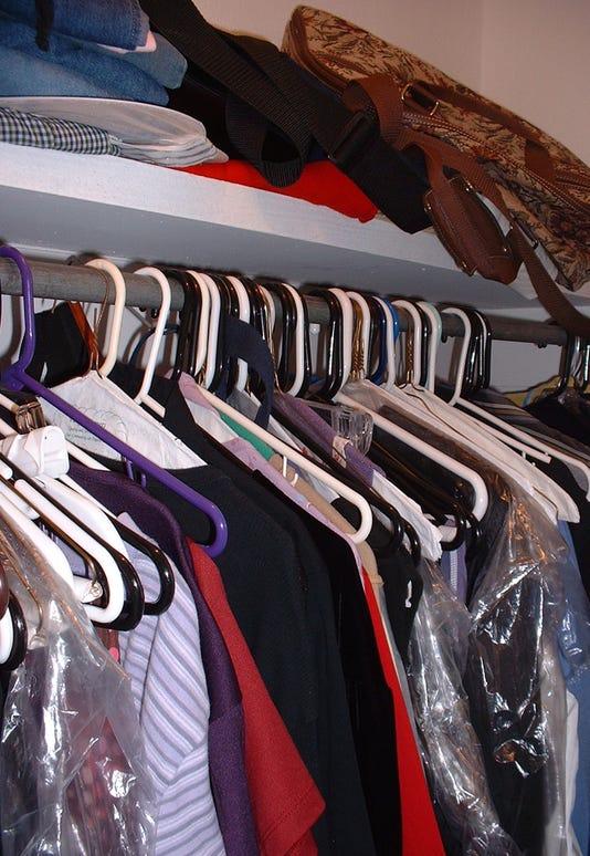 Messy Closet Stock Image