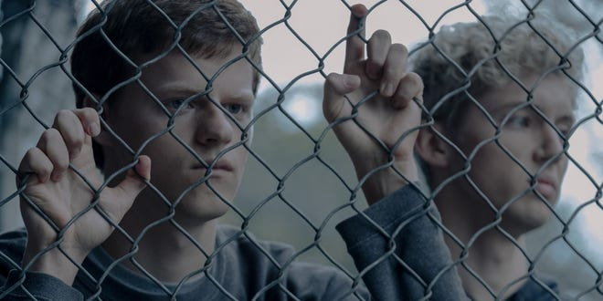 "Lucas Hedges and Troye Sivan in ""Boy Erased."""