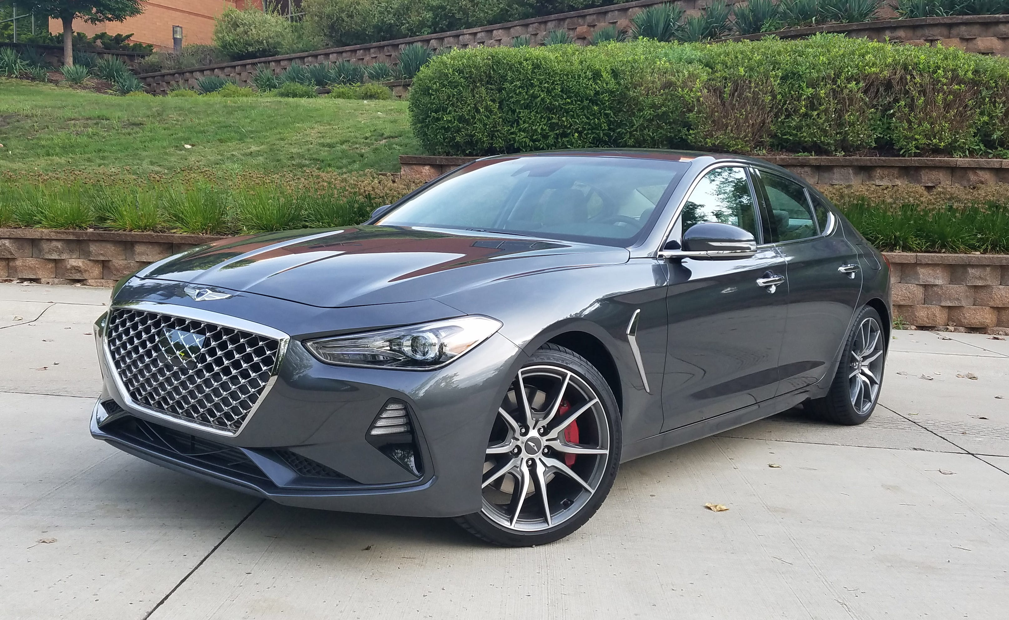 Rivaling the Cadillac ATS and Alfa Romeo Giulia for best-handling car in class, the 2019 Genesis G70 comes in this Sport model with a manual transmission. Too bad there's a dead spot under throttle that spoils the experience.