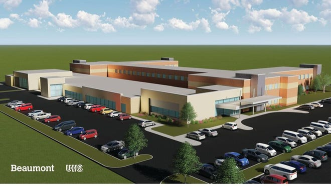 Renderings of a new Beaumont mental health hospital.