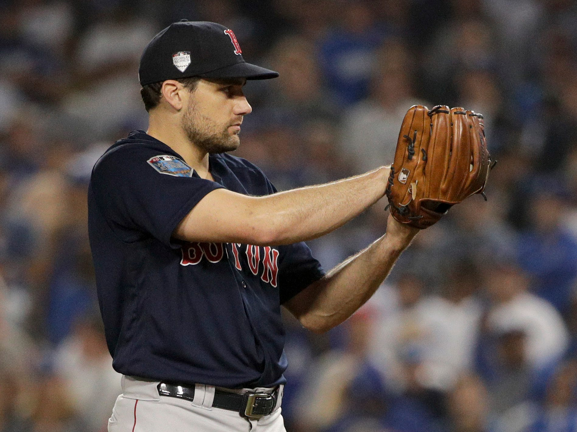 7. Nathan Eovaldi, SP, 29: The right-hander's stock skyrocketed with a brilliant showing for the World Series-champion Red Sox, though some worry his workload in the playoffs was ill-advised. Prediction: Red Sox, four years, $45 million. UPDATE: Red Sox, four years, $67.5 million.