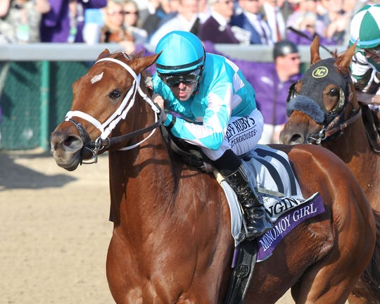 Breeders' Cup Distaff winner Monomy Girl was trained by Ellis Park champion Brad Cox.