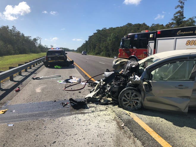 A Florida Highway Patrol Trooper was injured in a crash along southbound  I-75 at mile marker 134  Monday morning after he stopped to assist a disabled vehicle. The trooper and the driver of the car who hit him were injured and transported to Lee Memorial Hospital.