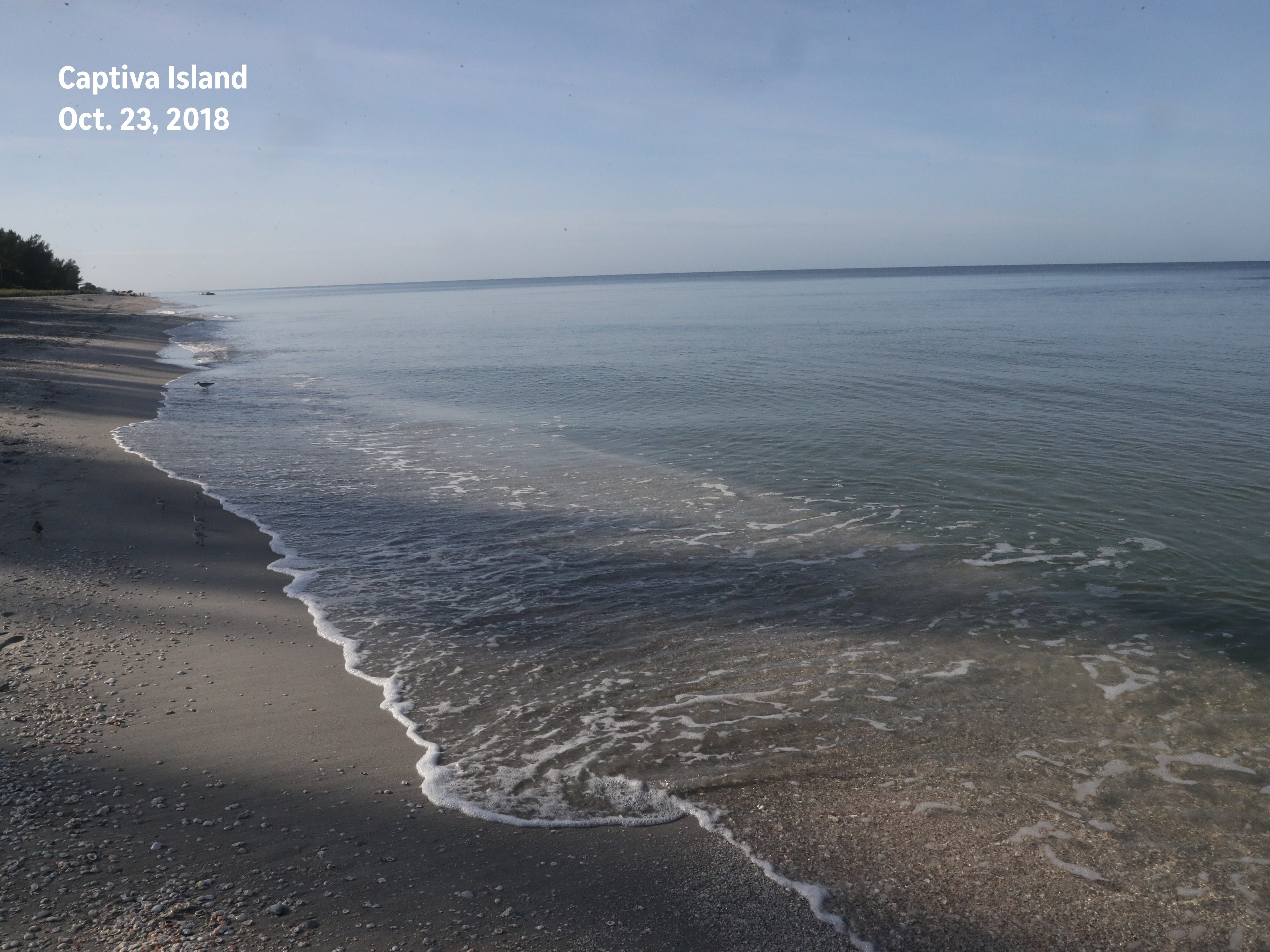 After: An image from the same beach on Captiva Island — free of red tide — was recaptured on Oct. 23, 2018.