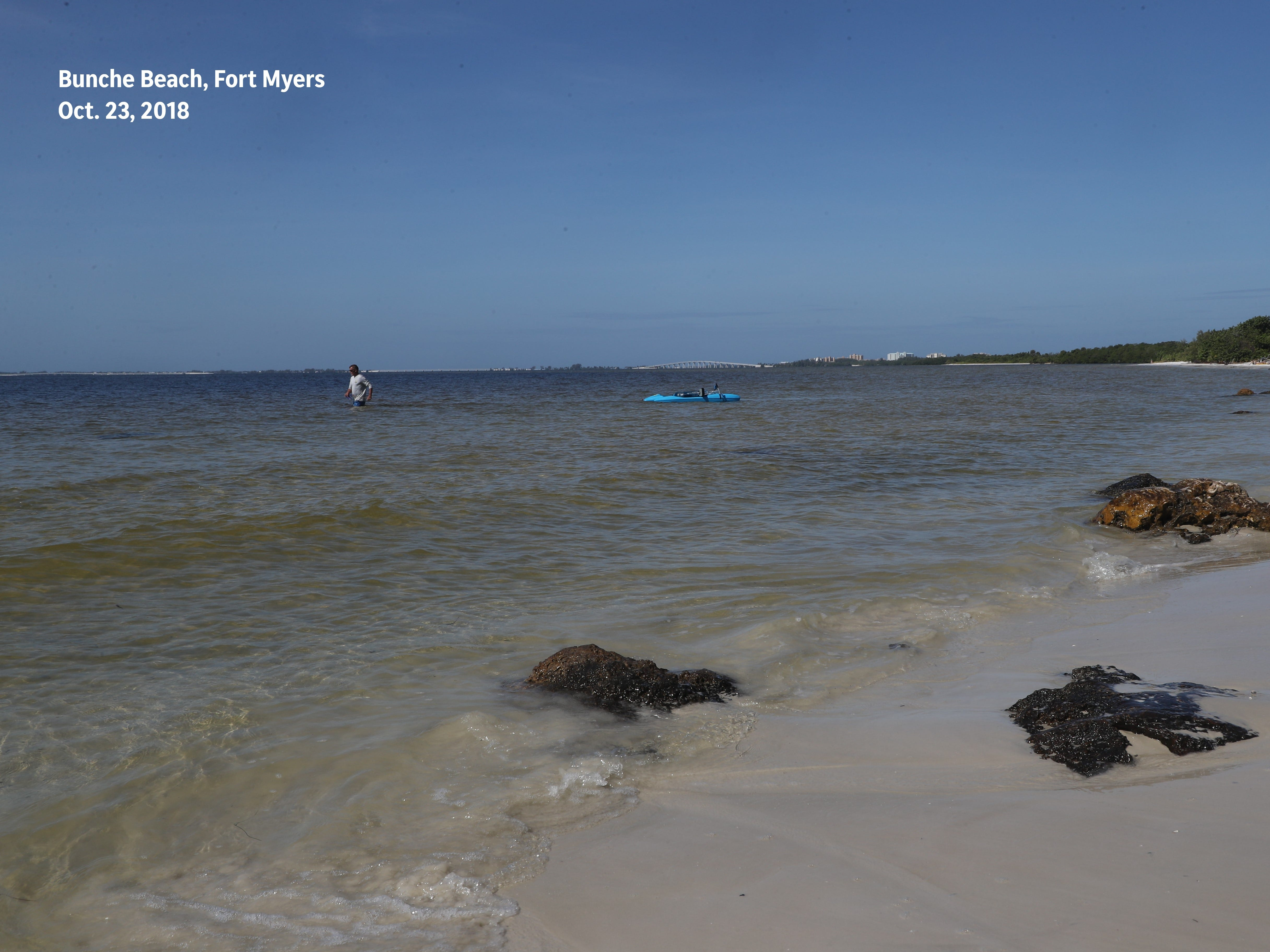 After: An image from Bunch Beach — free of red tide — was recaptured on Oct. 23, 2018.