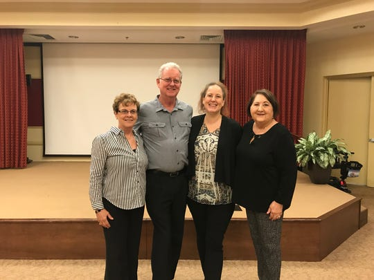 (From left) Wendy Schroder, Chris Schroder, Julia Rosen Swift and Gloria Tate at a preview event at Gulf Coast Village Saturday for Swift's upcoming short film about Cape Coral.