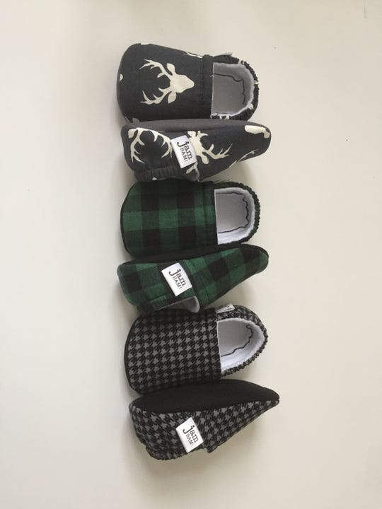 Grace Menocal's baby booties come in more than 30 patterns and in a variety of sizes.