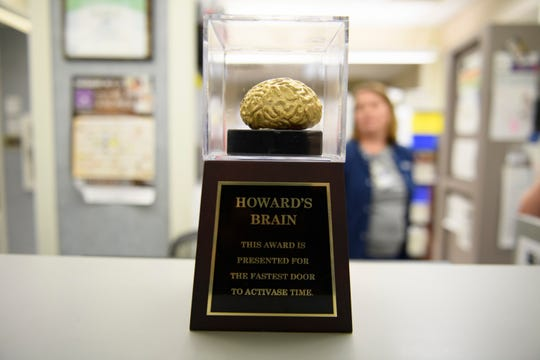 The Howard's Brain award seeks to inspire ER teams to reduce response times for treating stroke patients. The goal is 60 minutes from door to medication, but teams have improved that to an average of 37 minutes.