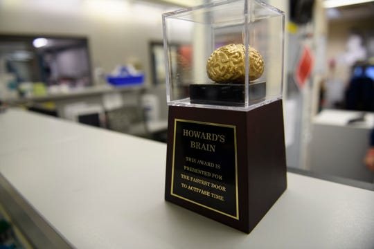 """As Clemson and Carolina meet for their annual rivalry game this week, teams in the Bon Secours St. Francis emergency rooms will be competing for """"Howard's Brain."""" The award is bestowed to the team that responds the quickest when a stroke patient comes in."""