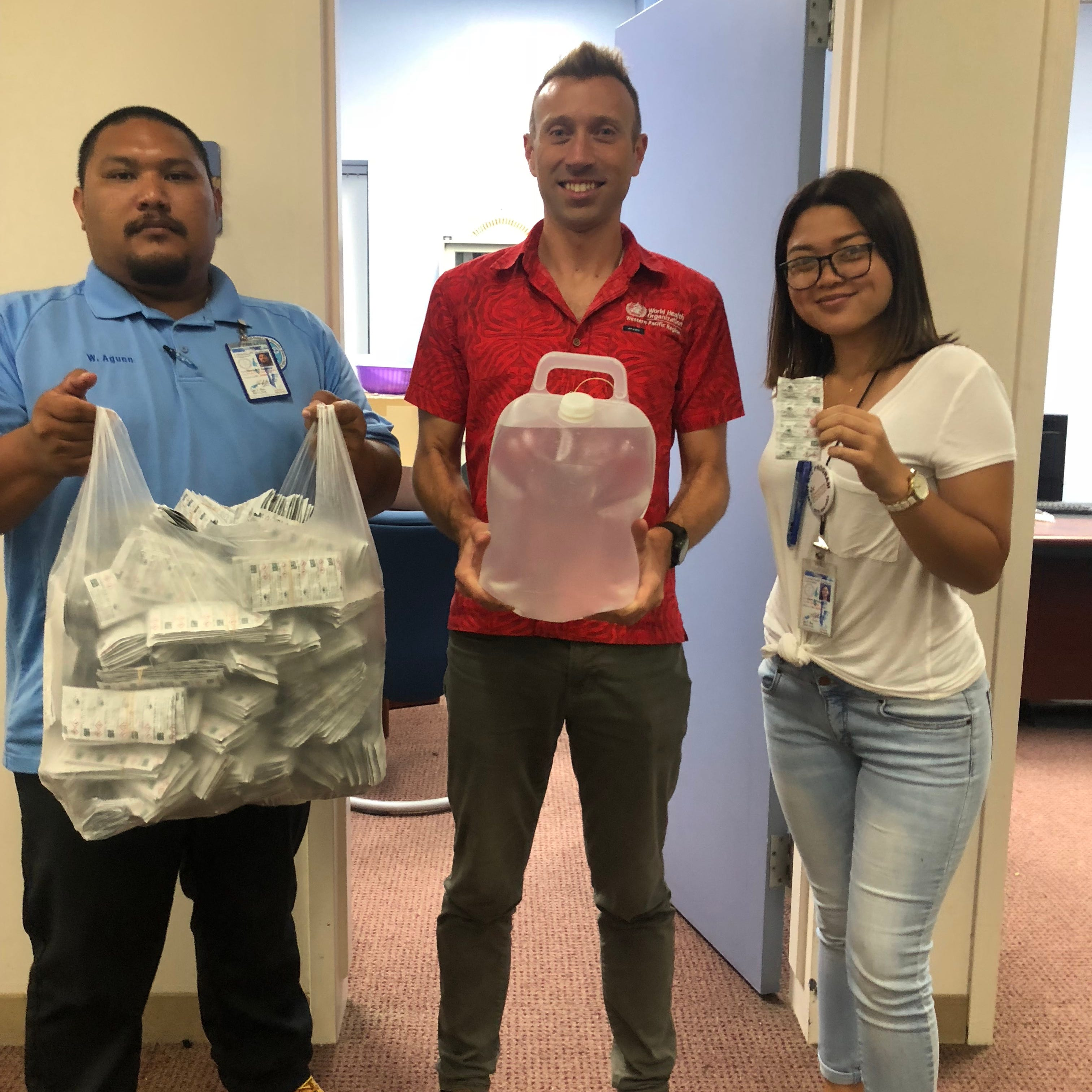 World Health Organization provides disaster relief to the CNMI