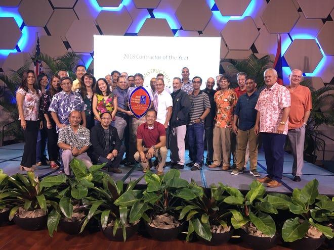 Winners of the 2018 Guam Contractors Association Awards, held Nov. 2 at the Dusit Thani Guam Resort.