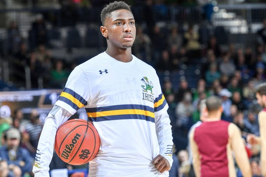 T.J. Gibbs averaged 15.3 points a game last season for Notre Dame.