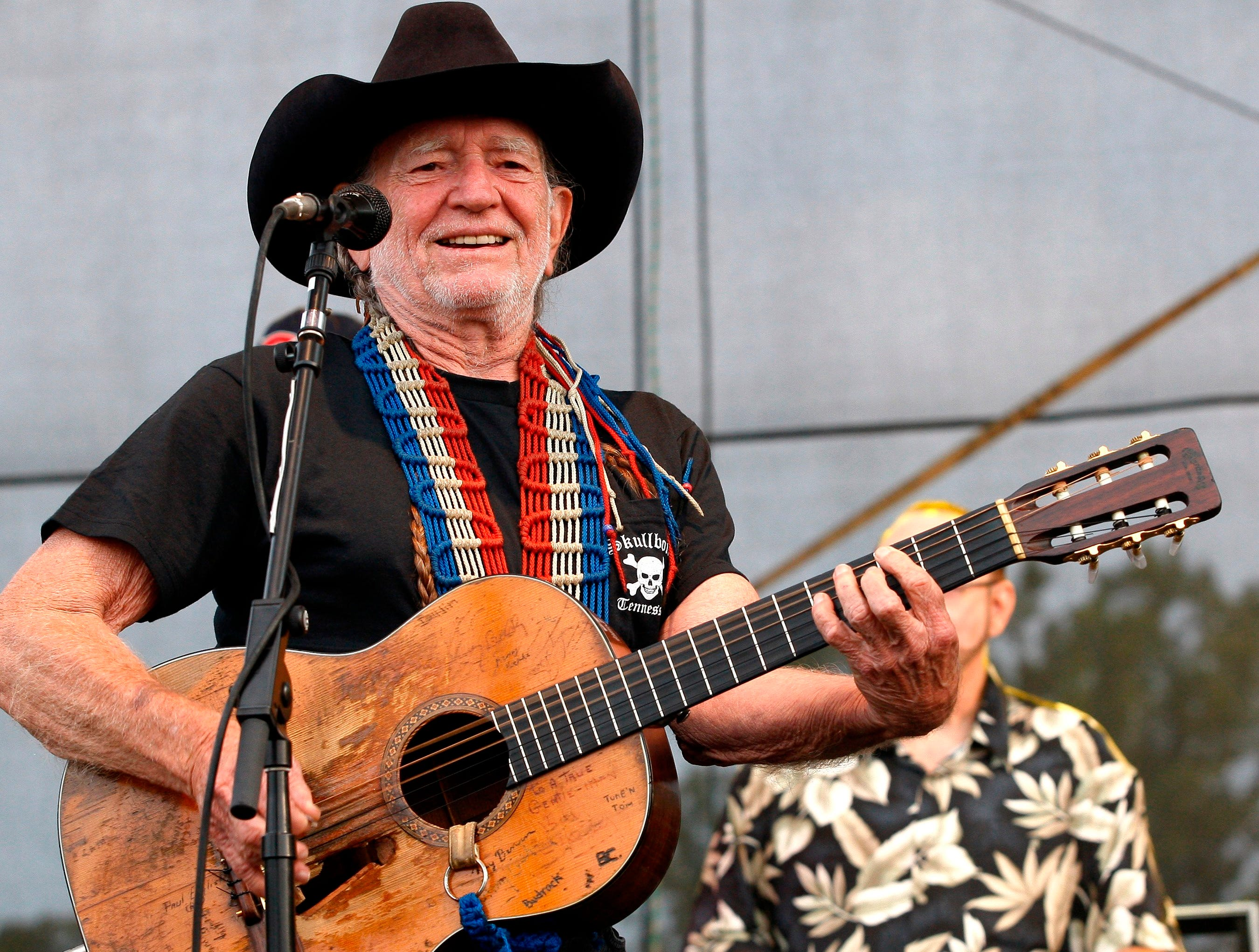 Willie Nelson performs at the Bonnaroo Music and Arts Festival 2008,  Friday, June 13, 2008, in Manchester, Tenn.