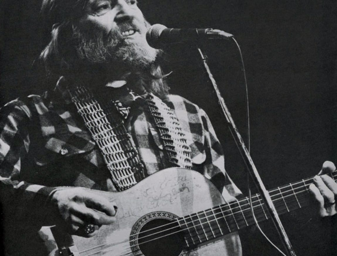 Willie Nelson performs April 16, 1978, at Stokely Athletic Center.