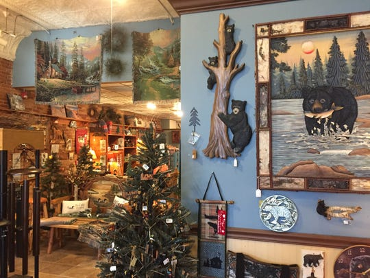 A view inside Up North Decor in downtown Howell Monday, Nov. 5, 2018 shows rustic home decor and gifts owners are try to sell off before they close the store in December.