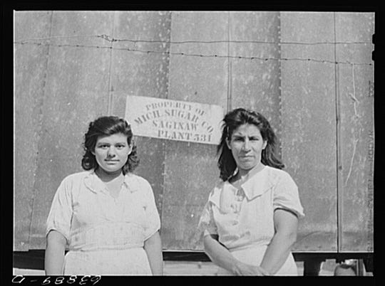Wives of sugar beet workers. Saginaw County, Michigan