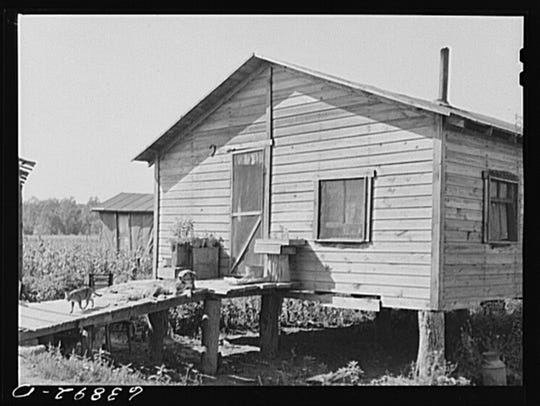 Home of migrant workers in a sugar beet area of Saginaw County, Michigan