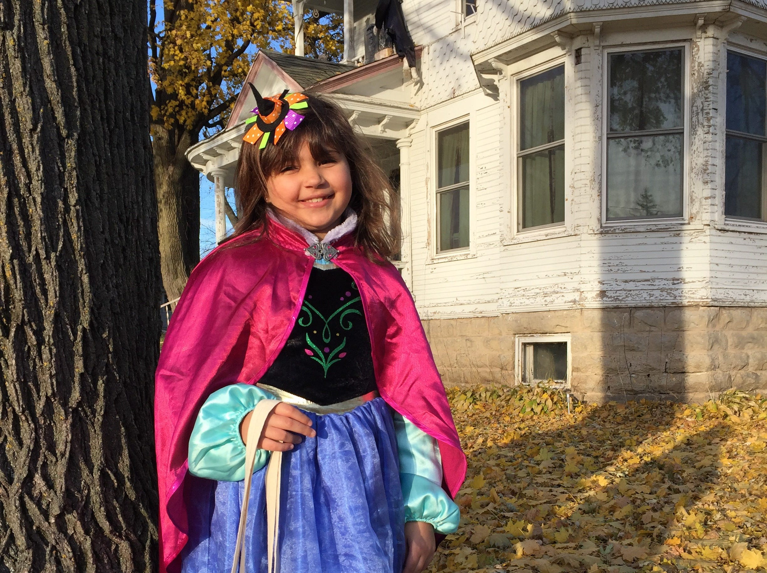 "Anna Tennies, 6, as Princess Anna of Arendelle from ""Frozen."" Her parents are Heather and Joe Tennies of Brandon."