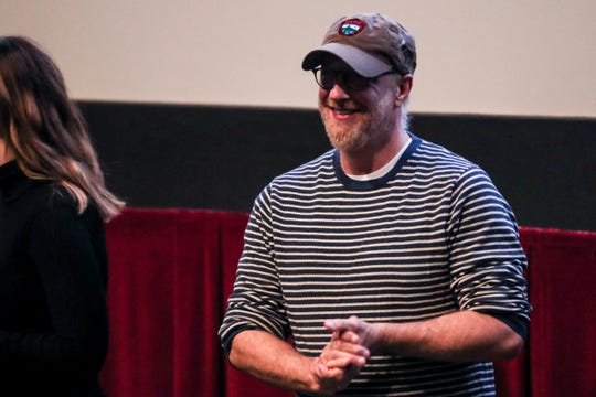 November 04 2018 - Chris Elliott and family members did a question and answer after the screening of Clara's Ghost at Studio on the Square during the Indie Memphis Film Festival on Sunday.