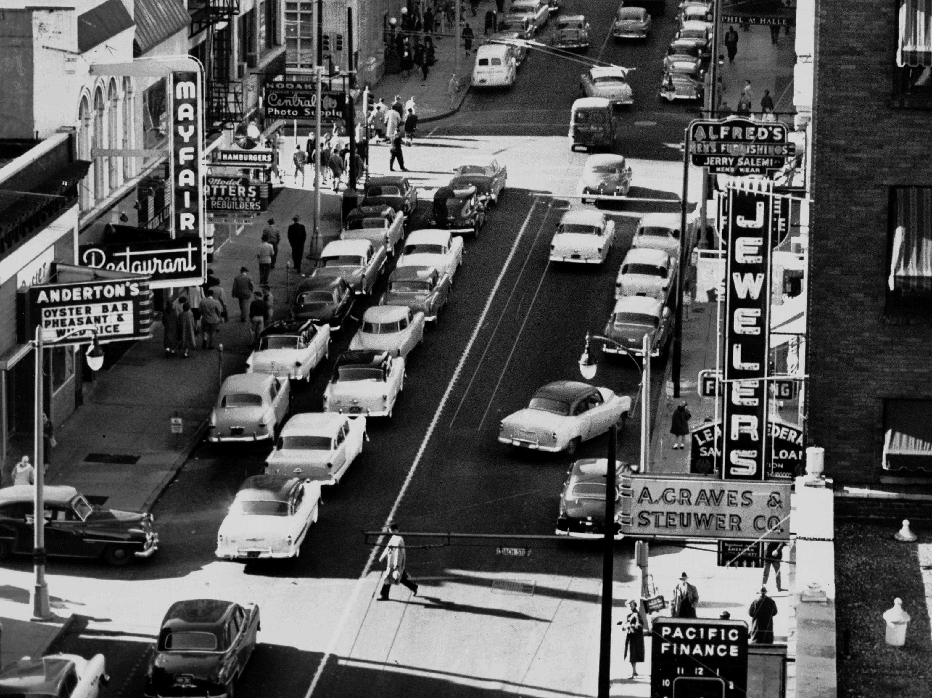 Madison Avenue in photograph dated November 1954.