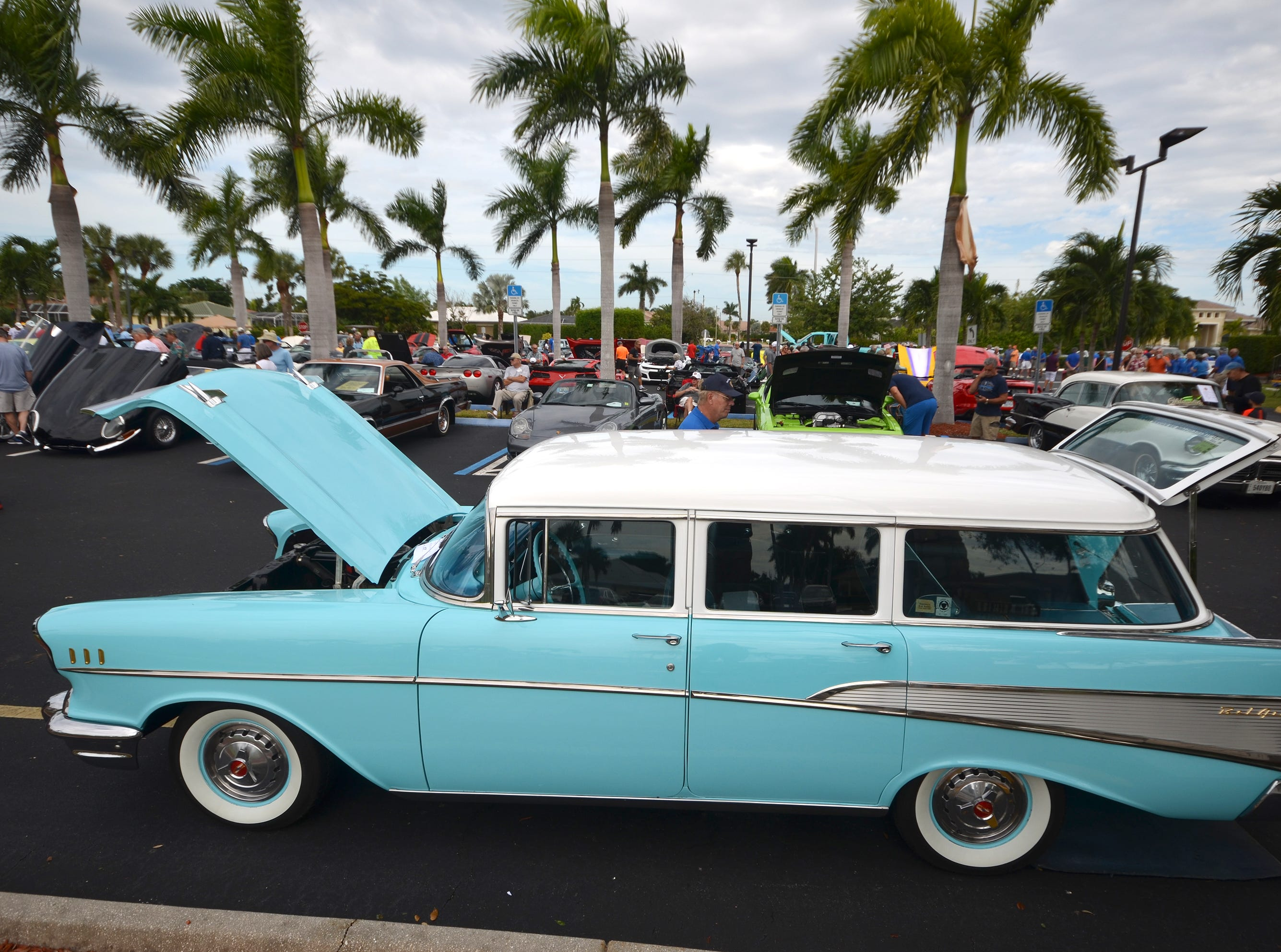 Chris Tighe's family has owned this '57 Bel Air since it was built. The Marco Island Knights of Columbus held their inaugural car show Saturday in the parking lot at San Marco Catholic Church.