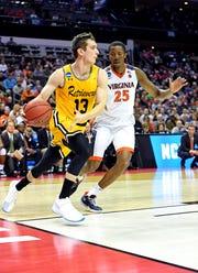 UMBC senior Joe Sherburne played high school basketball at Whitefish Bay.