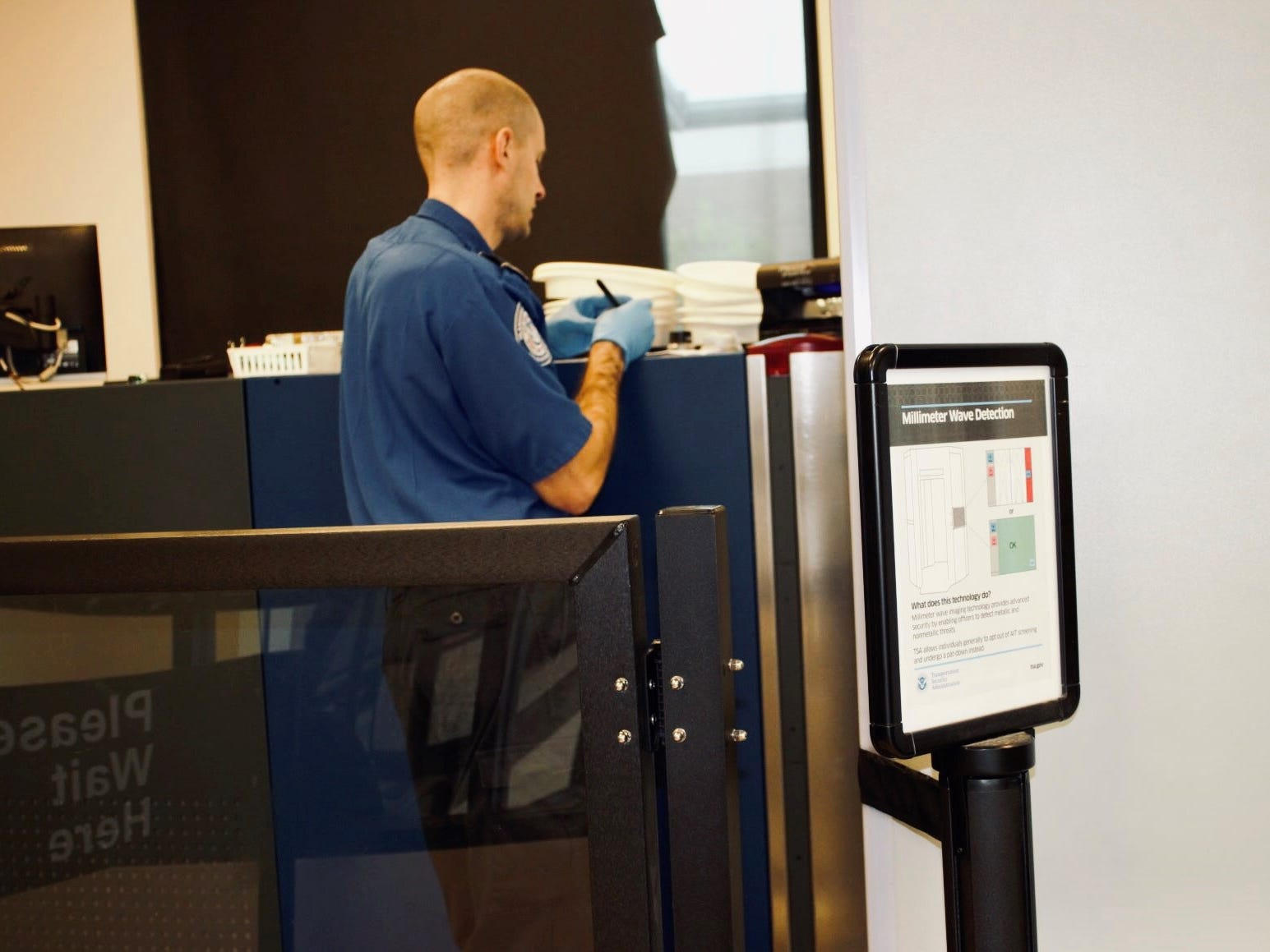 TSA officials found what appeared to be an explosive device during a luggage scan.