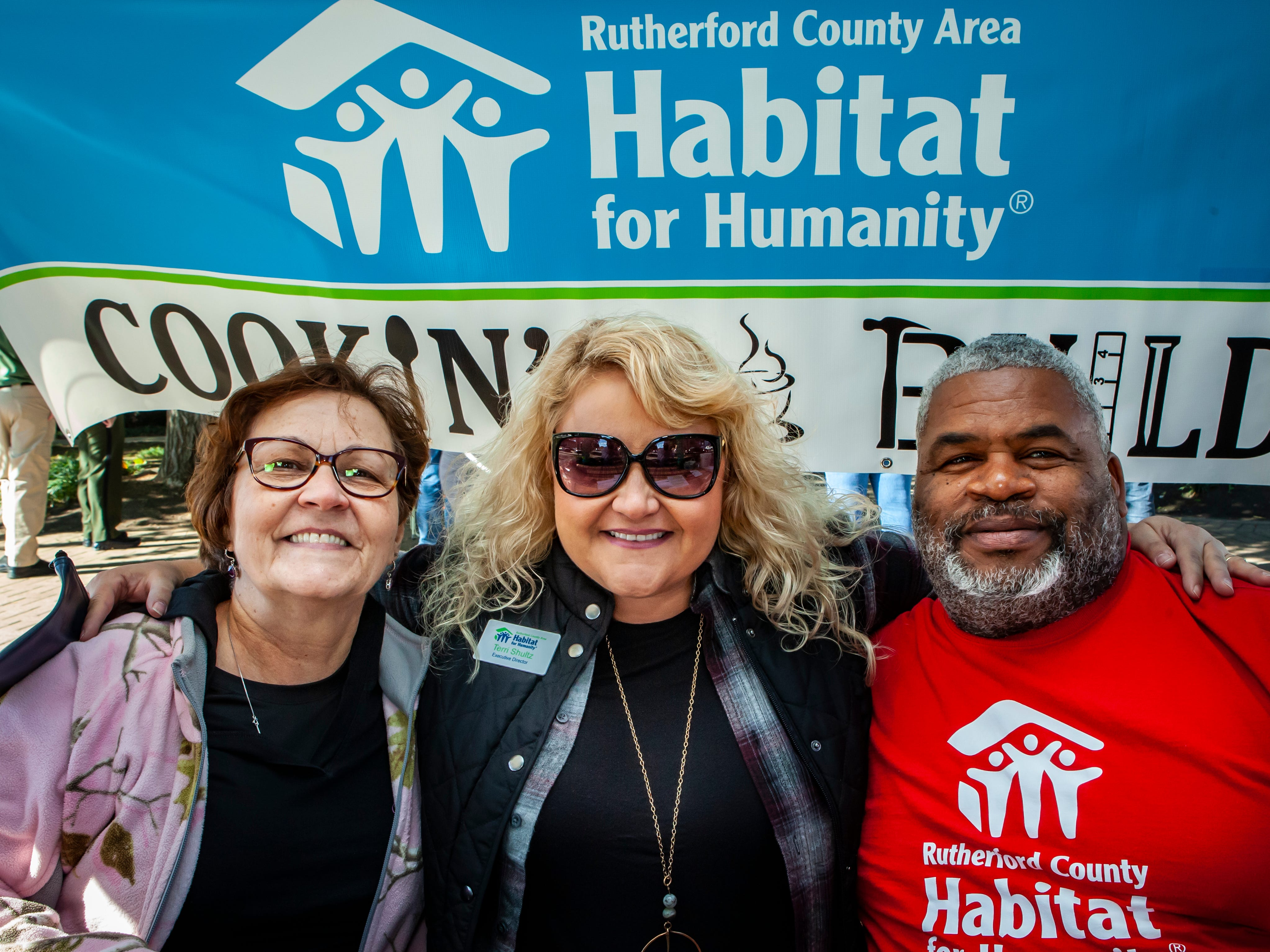 Joann Hunter, Terri Shultz and Thomas Keith at Rutherford County Habitat for Humanity's 2018 Cookin' to Build fundraiser on Saturday, Nov. 3, 2018.