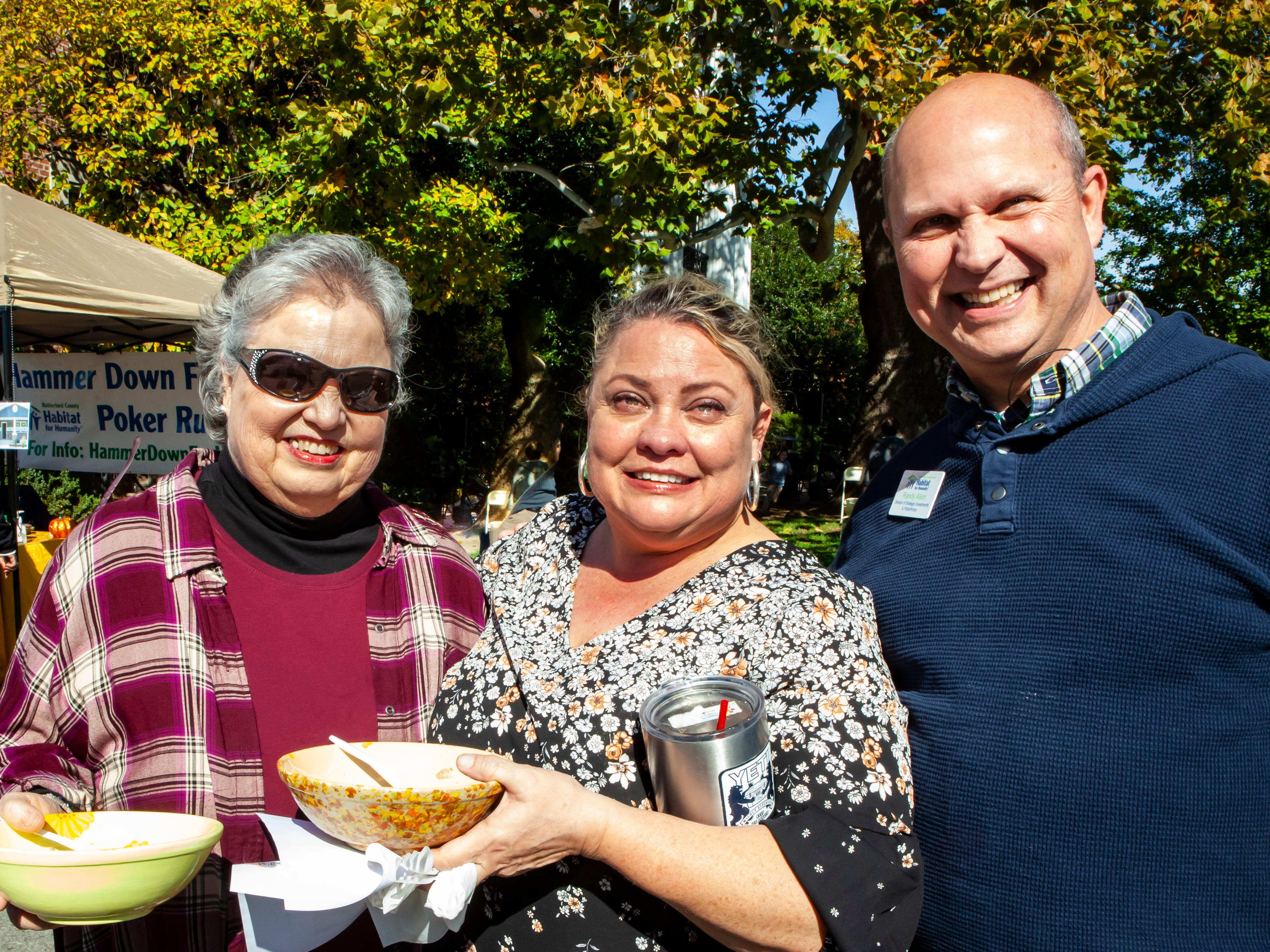 Linda Allen, Susan Jones and Randy Allen at Rutherford County Habitat for Humanity's 2018 Cookin' to Build fundraiser on Saturday, Nov. 3, 2018.