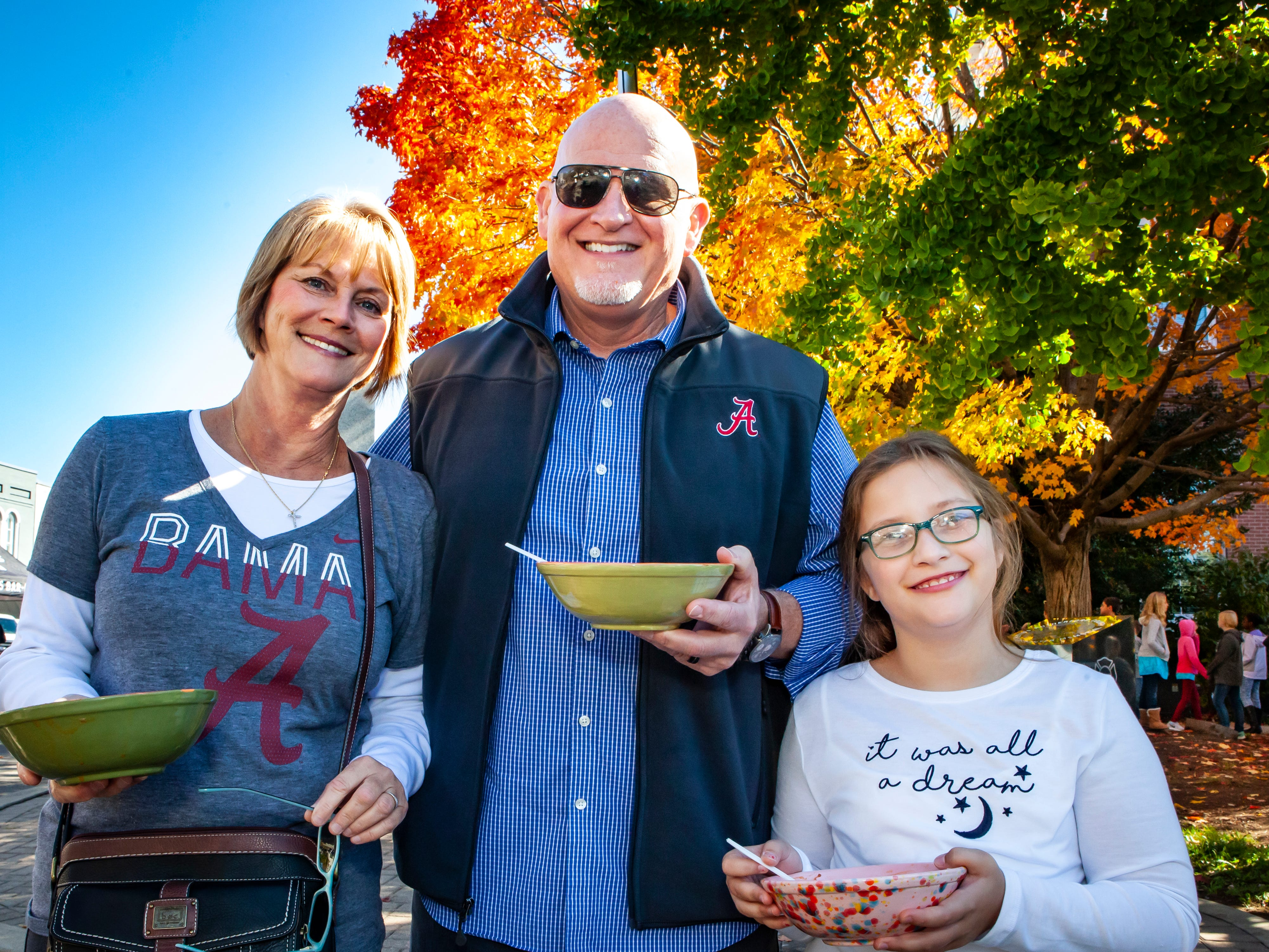 Lisa, Greg and Makayla Gibb at Rutherford County Habitat for Humanity's 2018 Cookin' to Build fundraiser on Saturday, Nov. 3, 2018.