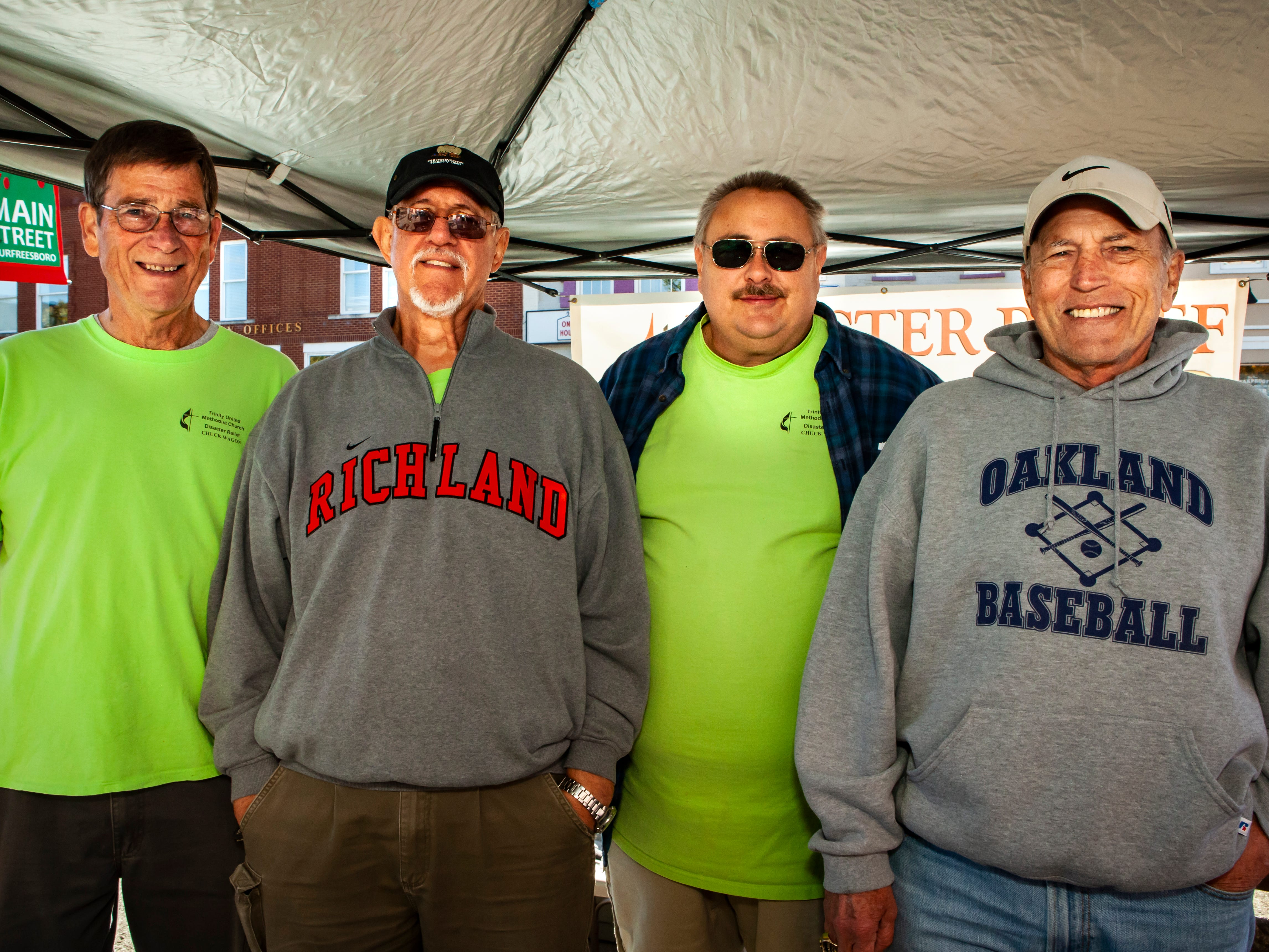 Floyd Stricklen, Les Schmidt, Brad Campbell and Butch Vaughn at Rutherford County Habitat for Humanity's 2018 Cookin' to Build fundraiser on Saturday, Nov. 3, 2018.