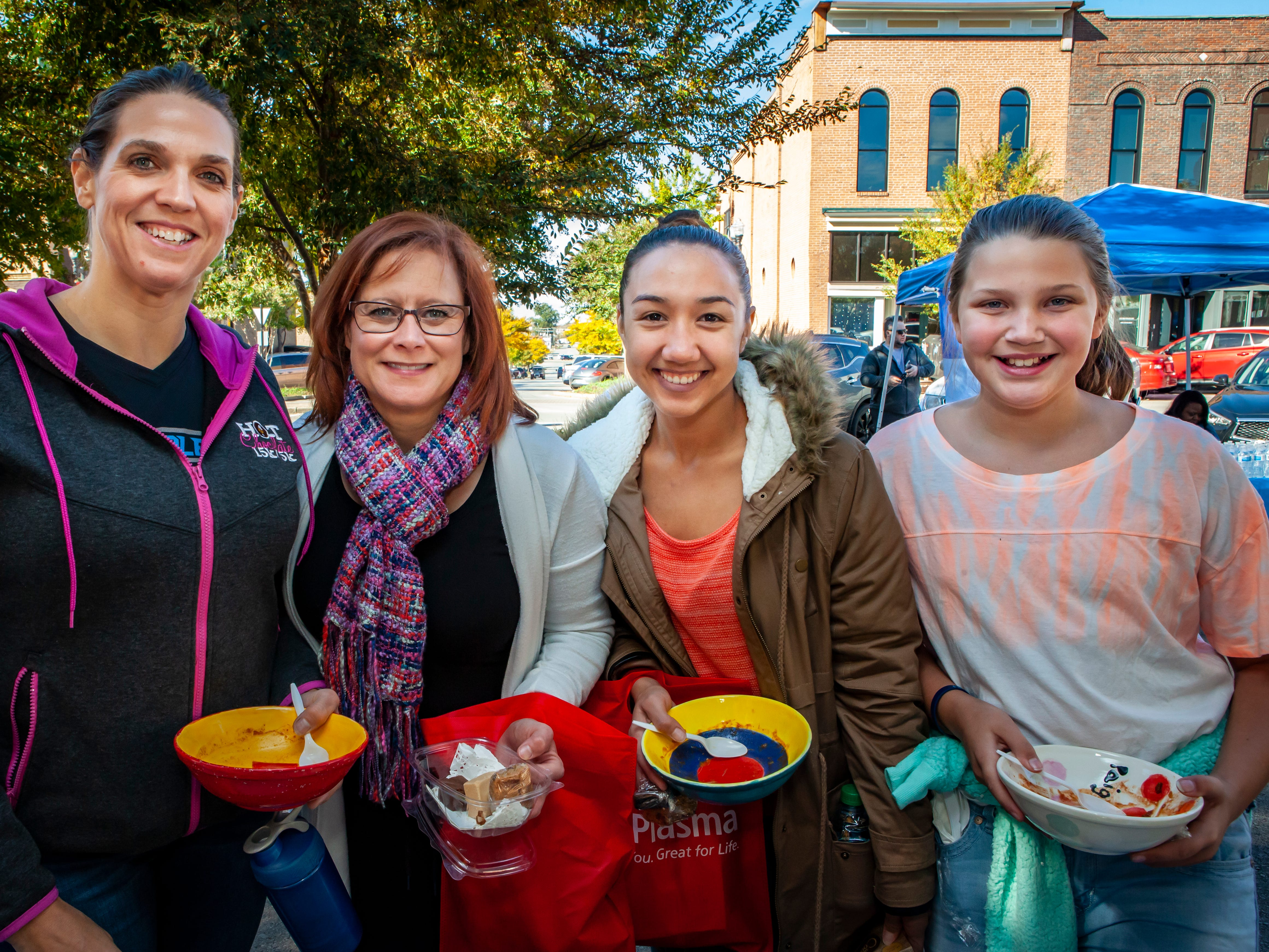 Beth Farrow, Kathrina Reed, Sheila Rodriguez and Paige Farrow at Rutherford County Habitat for Humanity's 2018 Cookin' to Build fundraiser on Saturday, Nov. 3, 2018.