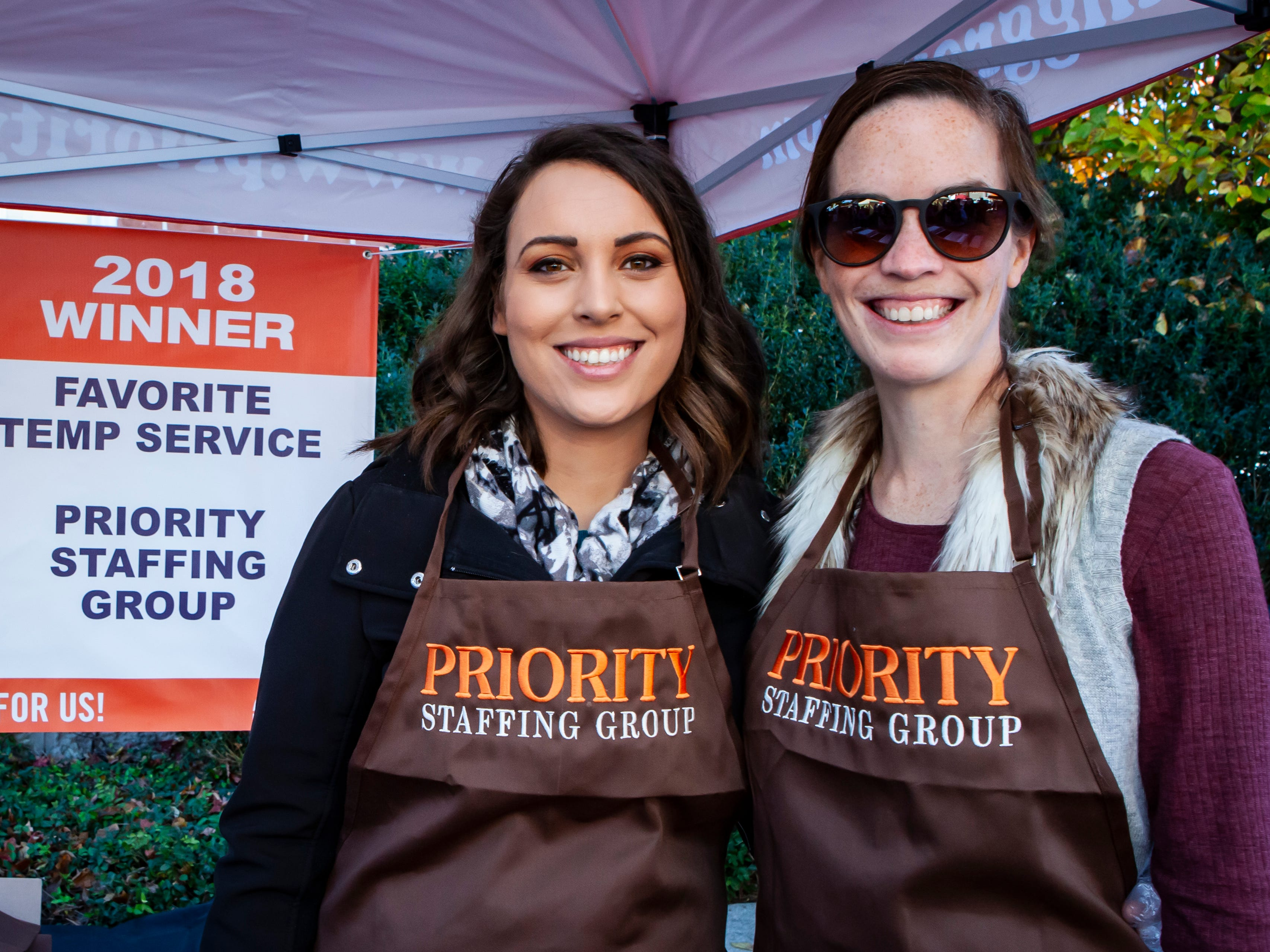 Ally Farlow and Julie Simpson at Rutherford County Habitat for Humanity's 2018 Cookin' to Build fundraiser on Saturday, Nov. 3, 2018.
