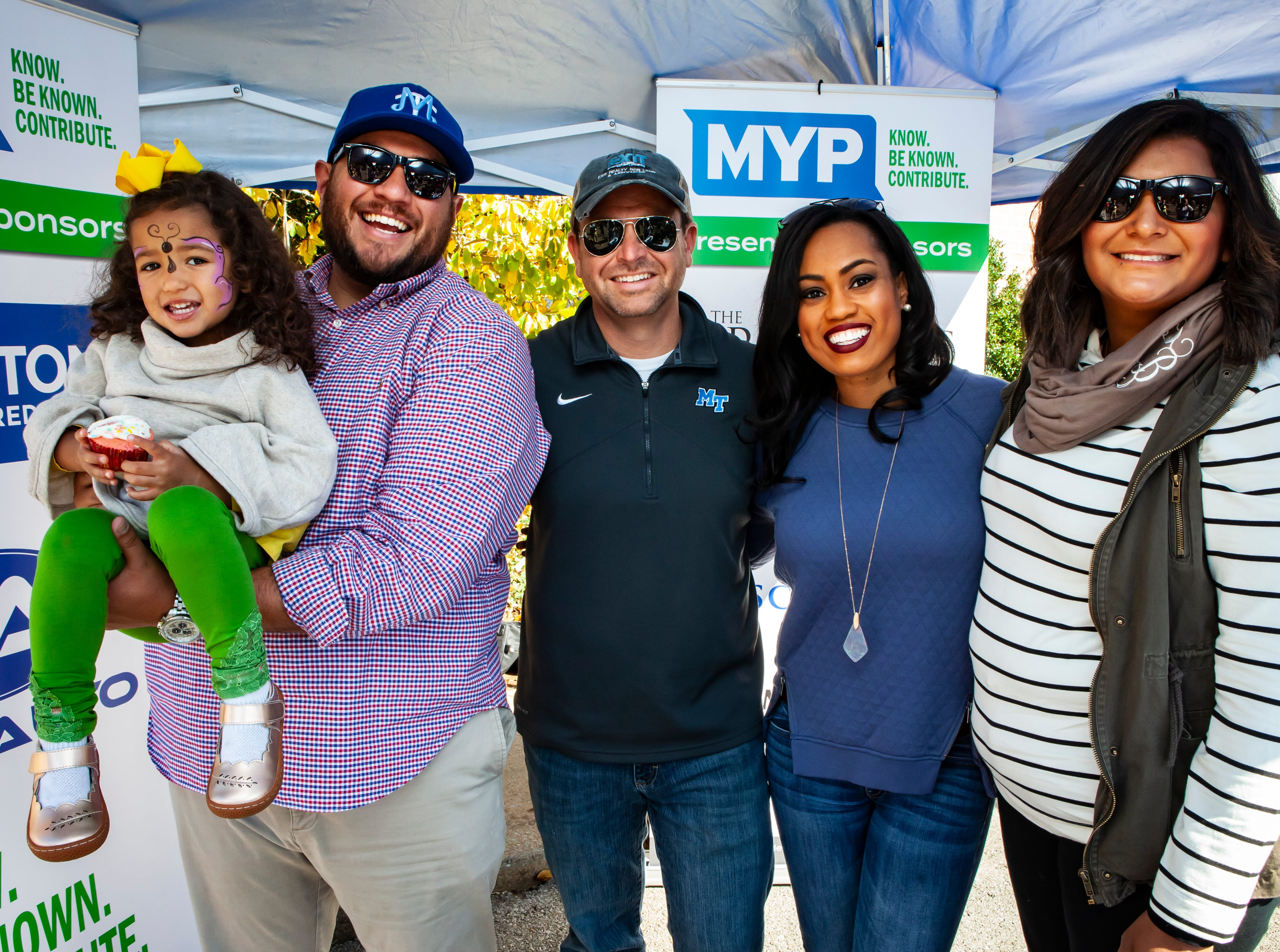 Sloane and Chase Salas, Brad Hopkins, Robin Seay and Francela Salas at Rutherford County Habitat for Humanity's 2018 Cookin' to Build fundraiser on Saturday, Nov. 3, 2018.