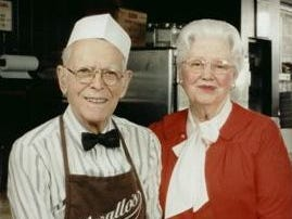 Frank and Eva Varallo. Photo taken in 1998, the week Frank Varallo Jr., retired. He is pictured with his wife who worked alongside him for more than 50 years. He took over the restaurant at 14, when his father passed away, and continued to work unto his retirement in 1998.