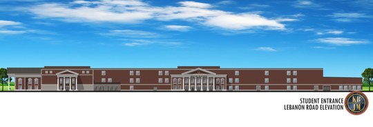 A rendering of the new Wilson County high school being built in Mt. Juliet.