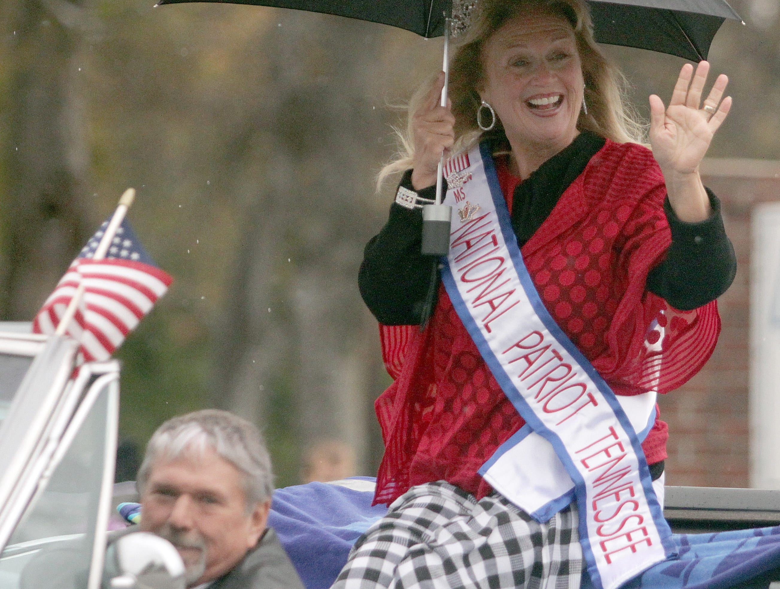 Ms. National Patriot Tennessee rides in the Veterans Day Parade in Hendersonville, TN on Sunday, November 4, 2018.