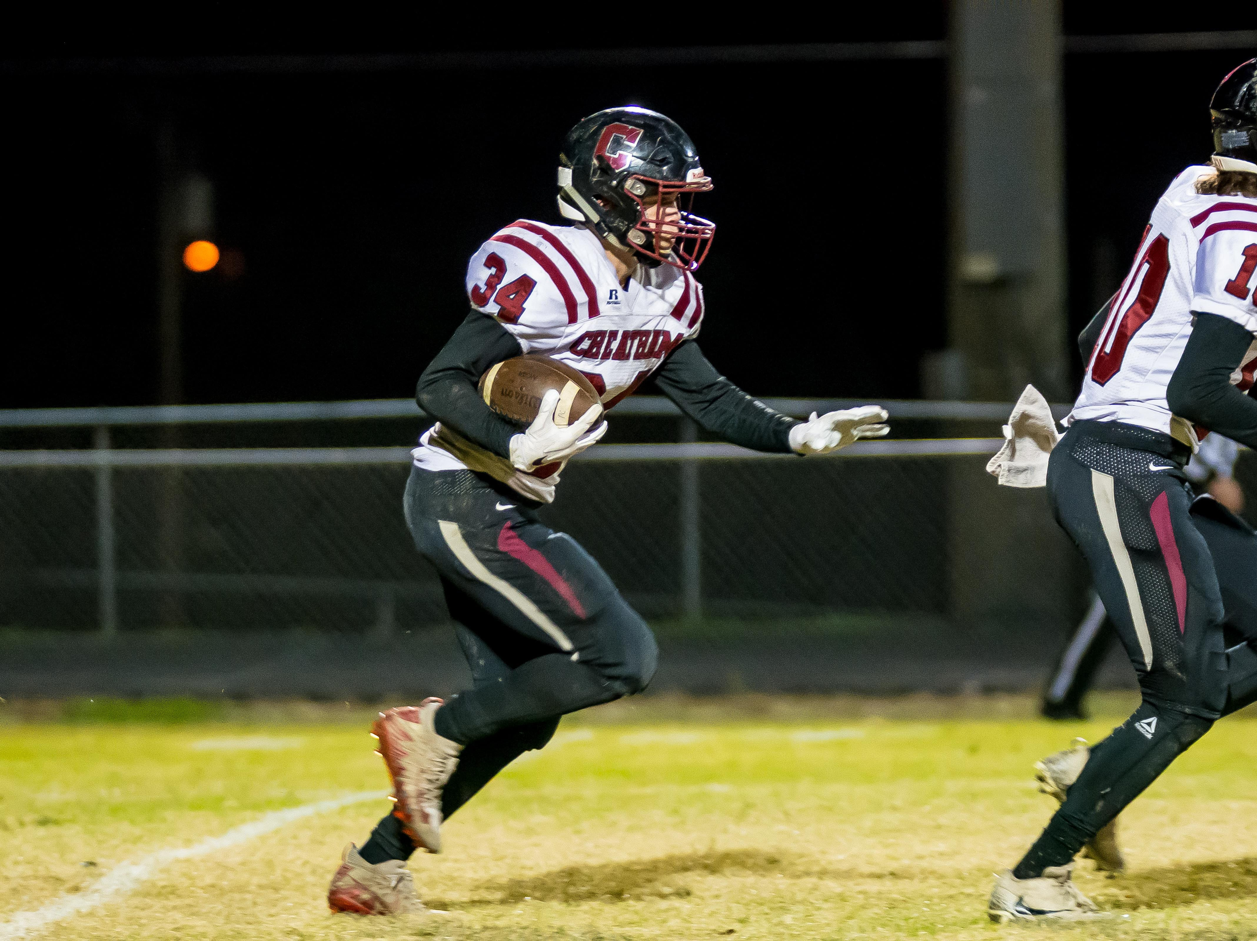 Cheatham senior Walker Bunce takes off on a kickoff return.