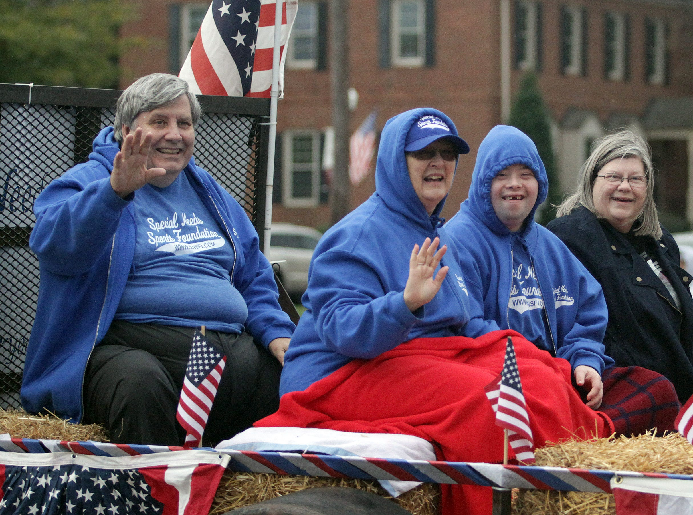Folks from the Special Needs Sports Foundation ride in the Veterans Day Parade in Hendersonville, TN on Sunday, November 4, 2018.