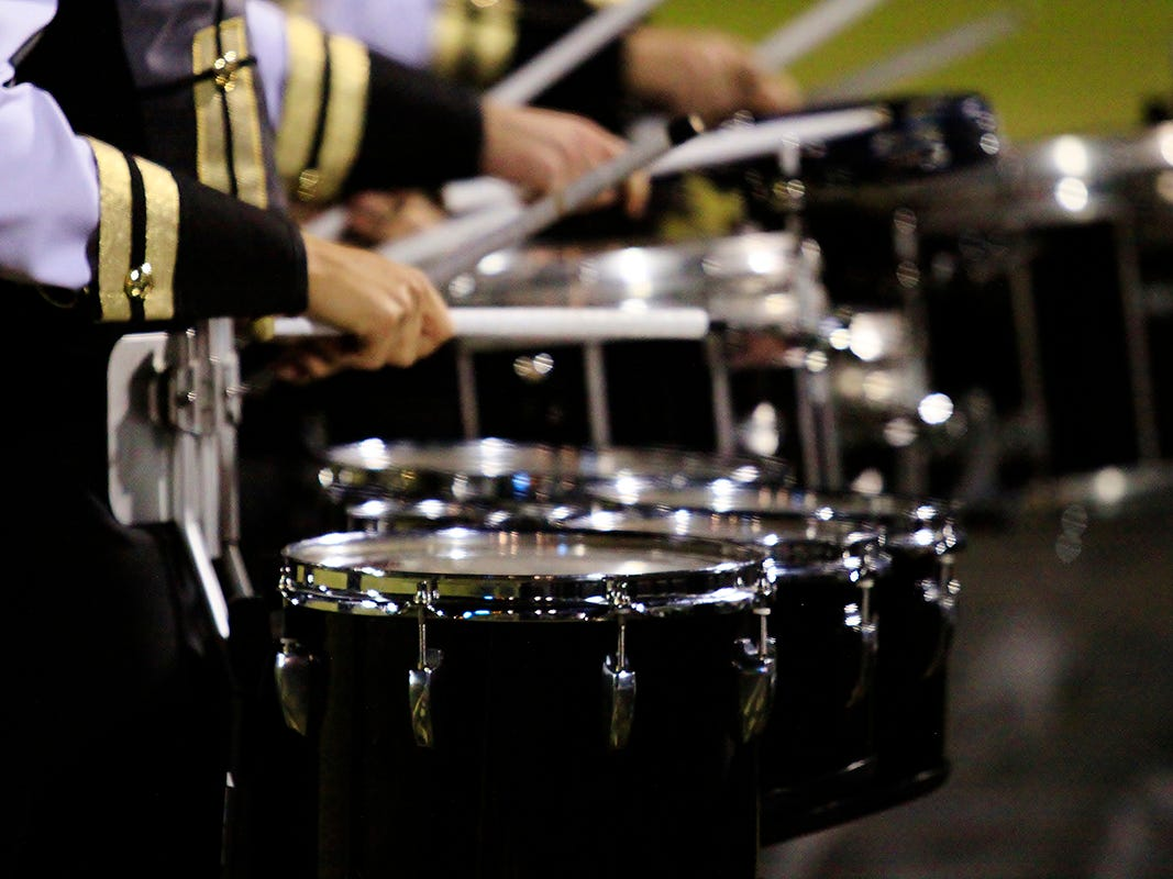 Fairview community raising funds for new band instruments like these being used by the Fairview High Sound 'O Gold Marching Band on November 2, 2018.