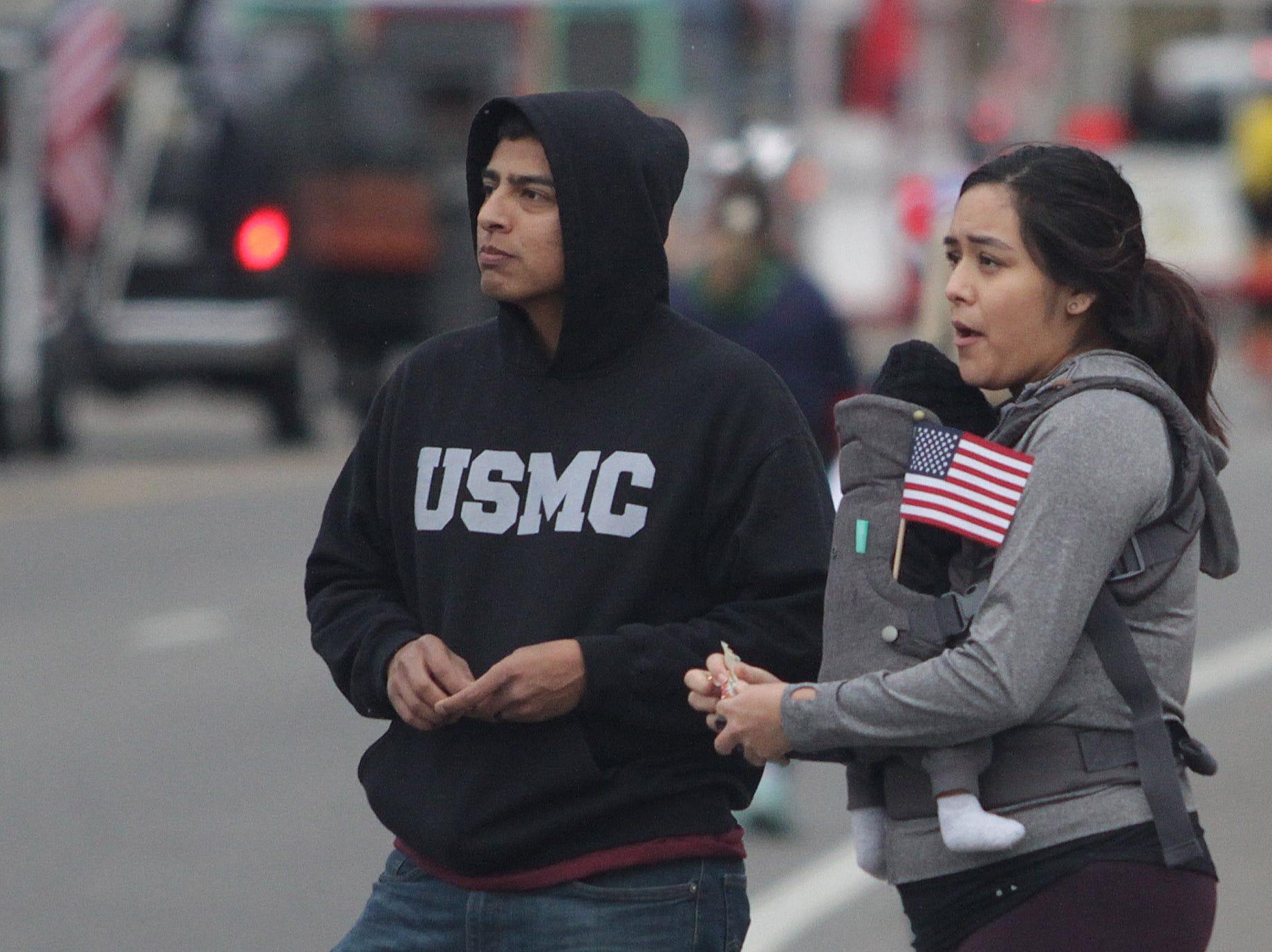 Folks watch the Veterans Day Parade in Hendersonville, TN on Sunday, November 4, 2018.