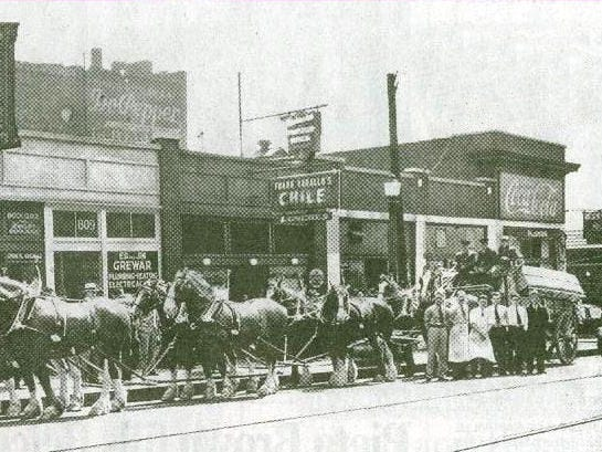 Clydesdale horses help deliver the first beer that was served in restaurants in downtown Nashville.