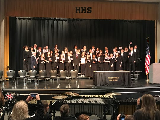 The Hendersonville High School Chamber Ensemble was invited to participate in the London International Chorus Festival while the Band of Gold was invited to march in London's New Year's Day Parade.