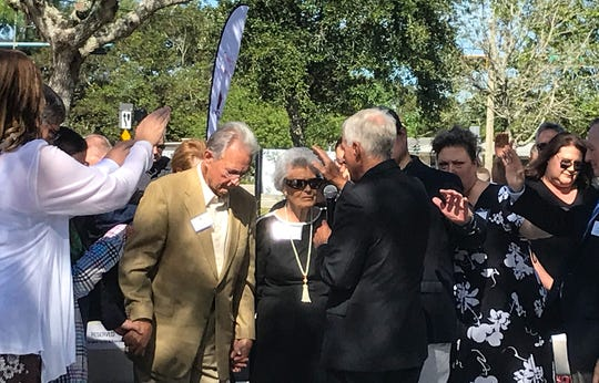 Officials of St. Matthew's House gathered Monday for a groundbreaking to celebrate a renovation of the homeless shelter complex and renaming to Campbell Lodge, to recognize Don and Ruth Campbell, who have pledged a substantial gift for the renovation.