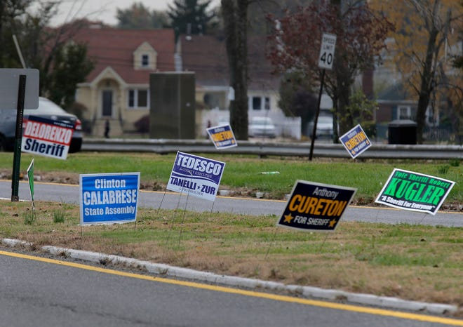Even though the election might be over, the signs remain in many places.